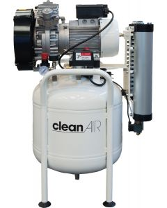 CleanAIR oil free compressor CLR 25/50 T 2HP 50L (230V) with dryer